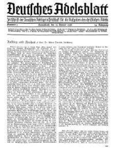 Deutsches Adelsblatt, Nr. 5, 54 Jahrg., 25 Januar 1936