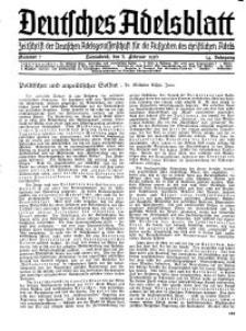Deutsches Adelsblatt, Nr. 7, 54 Jahrg., 8 Februar 1936