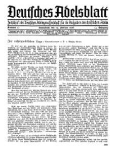 Deutsches Adelsblatt, Nr. 10, 54 Jahrg., 29 Februar 1936