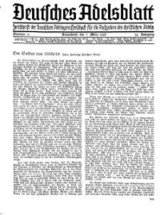 Deutsches Adelsblatt, Nr. 11, 54 Jahrg., 7 März 1936