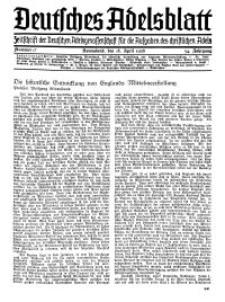 Deutsches Adelsblatt, Nr. 17, 54 Jahrg., 18 April 1936
