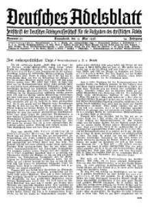 Deutsches Adelsblatt, Nr. 20, 54 Jahrg., 9 Mai 1936