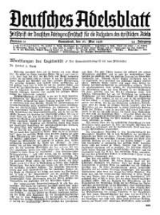 Deutsches Adelsblatt, Nr. 21, 54 Jahrg., 16 Mai 1936