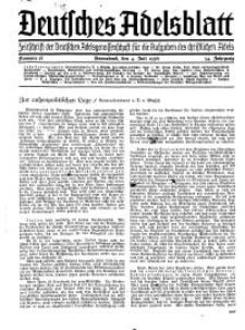 Deutsches Adelsblatt, Nr. 28, 54 Jahrg., 4 Juli 1936
