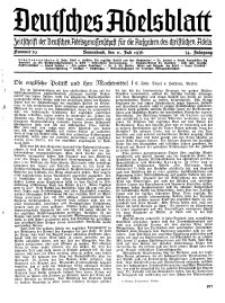 Deutsches Adelsblatt, Nr. 29, 54 Jahrg., 11 Juli 1936