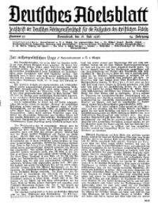 Deutsches Adelsblatt, Nr. 30, 54 Jahrg., 18 Juli 1936