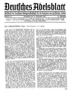 Deutsches Adelsblatt, Nr. 40, 54 Jahrg., 26 September 1936