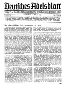 Deutsches Adelsblatt, Nr. 42, 54 Jahrg., 10 Oktober 1936