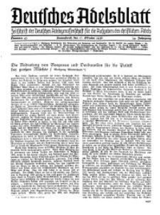 Deutsches Adelsblatt, Nr. 43, 54 Jahrg., 17 Oktober 1936