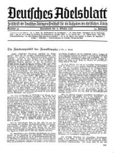 Deutsches Adelsblatt, Nr. 45, 54 Jahrg., 31 Oktober 1936