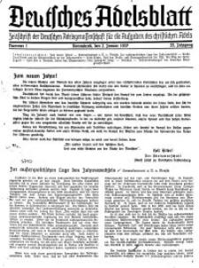 Deutsches Adelsblatt, Nr. 1, 55 Jahrg., 2 Januar 1937