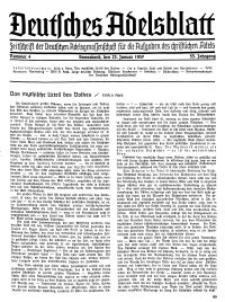 Deutsches Adelsblatt, Nr. 4, 55 Jahrg., 23 Januar 1937