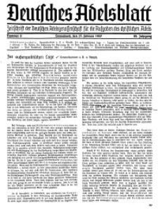 Deutsches Adelsblatt, Nr. 9, 55 Jahrg., 27 Februar 1937