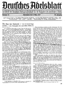 Deutsches Adelsblatt, Nr. 10, 55 Jahrg., 6 März 1937