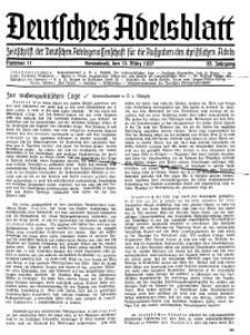 Deutsches Adelsblatt, Nr. 11, 55 Jahrg., 13 März 1937