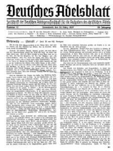 Deutsches Adelsblatt, Nr. 12, 55 Jahrg., 20 März 1937