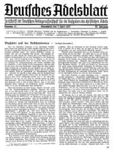 Deutsches Adelsblatt, Nr. 14, 55 Jahrg., 3 April 1937