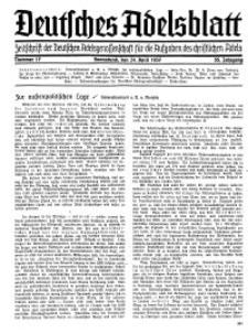 Deutsches Adelsblatt, Nr. 17, 55 Jahrg., 24 April 1937