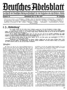 Deutsches Adelsblatt, Nr. 20, 55 Jahrg., 15 Mai 1937