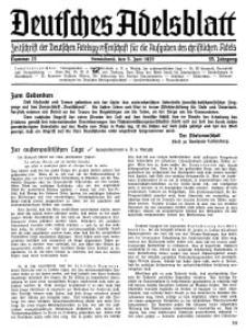 Deutsches Adelsblatt, Nr. 23, 55 Jahrg., 5 Juni 1937