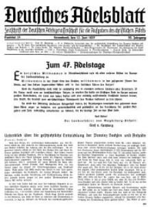 Deutsches Adelsblatt, Nr. 24, 55 Jahrg., 12 Juni 1937