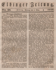 Elbinger Zeitung, No. 26 Montag, 5. März 1849