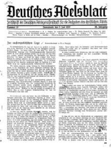 Deutsches Adelsblatt, Nr. 27, 55 Jahrg., 3 Juli 1937