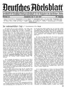 Deutsches Adelsblatt, Nr. 29, 55 Jahrg., 17 Juli 1937