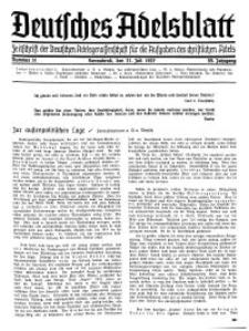 Deutsches Adelsblatt, Nr. 31, 55 Jahrg., 31 Juli 1937