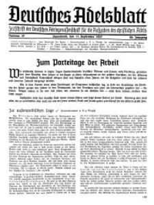 Deutsches Adelsblatt, Nr. 37, 55 Jahrg., 11 September 1937