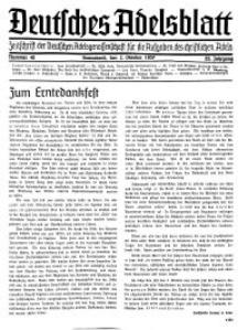 Deutsches Adelsblatt, Nr. 40, 55 Jahrg., 2 Oktober 1937