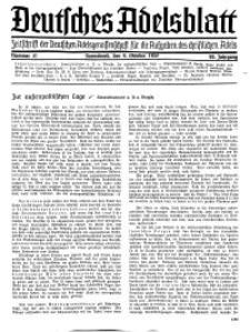 Deutsches Adelsblatt, Nr. 41, 55 Jahrg., 9 Oktober 1937