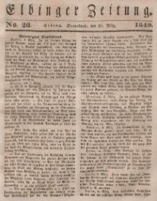 Elbinger Zeitung, No. 28 Sonnabend, 10. März 1849
