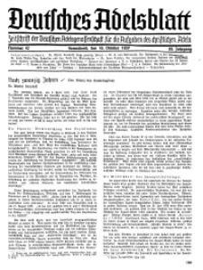 Deutsches Adelsblatt, Nr. 42, 55 Jahrg., 16 Oktober 1937