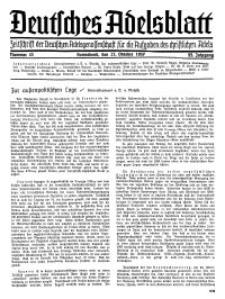 Deutsches Adelsblatt, Nr. 43, 55 Jahrg., 23 Oktober 1937