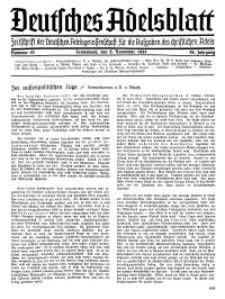 Deutsches Adelsblatt, Nr. 45, 55 Jahrg., 6 November 1937