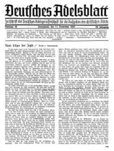 Deutsches Adelsblatt, Nr. 46, 55 Jahrg., 13 November 1937