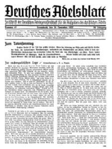 Deutsches Adelsblatt, Nr. 47, 55 Jahrg., 20 November 1937