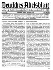 Deutsches Adelsblatt, Nr. 50, 55 Jahrg., 11 Dezember 1937