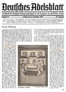 Deutsches Adelsblatt, Nr. 52, 55 Jahrg., 24 Dezember 1937