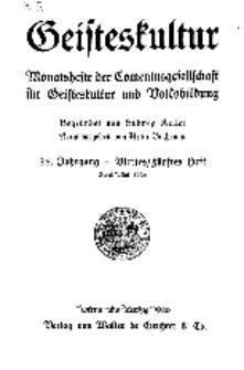 Geisteskultur. Monatshefte der Comenius-Gesellschaft für Kultur und Geistesleben, 1926, 35. Band, Heft 4-5