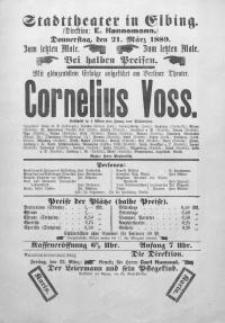 Cornelius Voss - Franz von Schönthan, Gustav Kadelburg