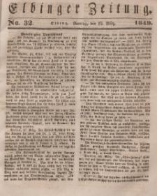 Elbinger Zeitung, No. 32 Montag, 19. März 1849