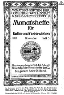 Monatshefte der Comenius-Gesellschaft für Kultur und Geistesleben, November 1917, 26. Band, Heft 5
