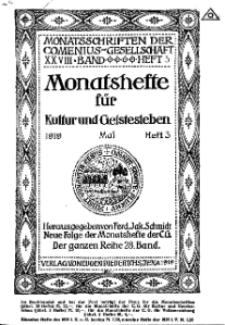 Monatshefte der Comenius-Gesellschaft für Kultur und Geistesleben, Mai 1919, 28. Band, Heft 3