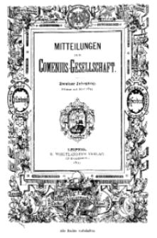 Mitteilungen der Comenius-Gesellschaft. Comenius-Blätter für Volkserziehnng, Februar - März 1894, II Jahrgang, Nr. 2-3