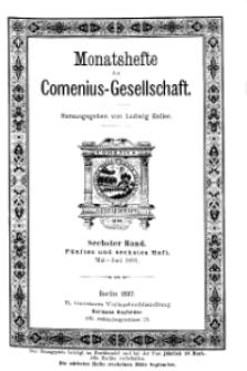 Monatshefte der Comenius-Gesellschaft, Mai - Juni 1897, 6. Band, Heft 5-6