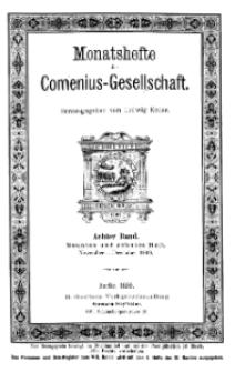 Monatshefte der Comenius-Gesellschaft, November - Dezember 1899, 8. Band, Heft 9-10