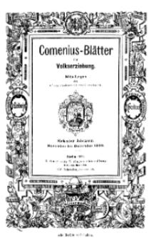 Comenius-Blätter für Volkserziehung, November - Dezember 1899, VII Jahrgang, Nr. 9-10
