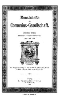 Monatshefte der Comenius-Gesellschaft, Juni - Juli 1893, 2. Band, Heft 6-7